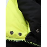 Stand Collar Thicken Zip-Up Down Jacket for sale
