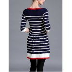 Striped Knitted Flare Dress deal