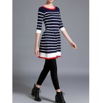 Striped Knitted Flare Dress photo