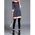 best Striped Knitted Flare Dress