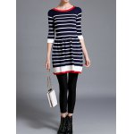 Striped Knitted Flare Dress for sale