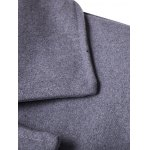 Double Breasted Spliced Wool Blend Coat deal