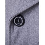 Double Breasted Spliced Wool Blend Coat for sale