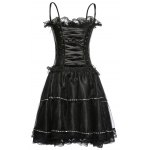 Spaghetti Strap Corset Top and Bubble Skirt Set deal
