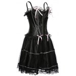 cheap Spaghetti Strap Corset Top and Bubble Skirt Set