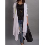 cheap Floral Embroidered Asymmetrical Thin Coat