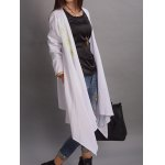 Floral Embroidered Asymmetrical Thin Coat deal