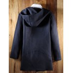 Hooded Oblique Zipper Design Lengthen Knit Blends Cardigan for sale