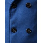 Double Breasted Lapel Collar Wool Blend Coat for sale