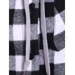 Plaid Pocket Design Buttoned Hoodie for sale