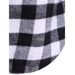 best Plaid Pocket Design Buttoned Hoodie