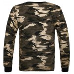 cheap Crew Neck Camouflage Sweatshirt