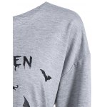 best Casual Skew Neck Halloween Pullover Sweatshirt