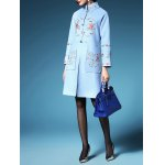 Embroidered Walker Coat with Frog Button deal
