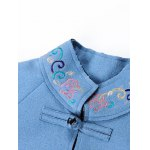 Embroidered Walker Coat with Frog Button for sale