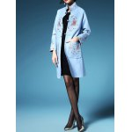 cheap Embroidered Walker Coat with Frog Button