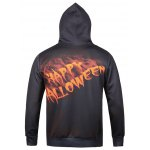 cheap Hooded 3D Clown Moon Star Print Halloween Hoodie