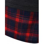 best Autumn Plaid Pattern Patch Drawstring Hoodie