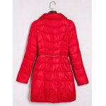 cheap Embroidered Quilted Coat with Peter Pan Collar