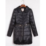 Buy Embroidered Quilted Coat Peter Pan Collar 2XL