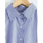 High-Low Striped Embroidered Shirt deal