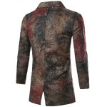 cheap Single Breasted All-Over Printed Coat