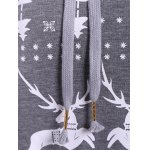 Long Sleeve Elk Print Christmas Pullover Hoodie for sale