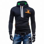 Hooded Buttons Embellished Edging Long Sleeve Hoodie
