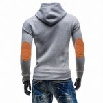 cheap Hooded Buttons Embellished Edging Long Sleeve Hoodie