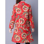 Floral Print Longline Quilted Coat deal