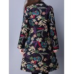 Flower Print Buttoned Quilted Coat deal