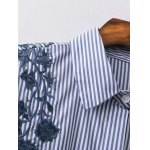 Striped High Low Embroidered Shirt deal