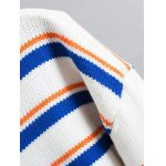 Turtle Neck Pullover Striped Sweater deal