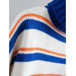 cheap Turtle Neck Pullover Striped Sweater