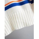 Turtle Neck Pullover Striped Sweater for sale