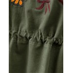 Stand Neck Tiger Embroidered Military Jacket for sale