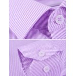 Striped Long Sleeve Business Shirt deal