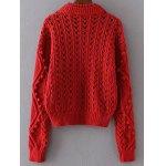cheap Cable Knit Cut Out Loose Sweater