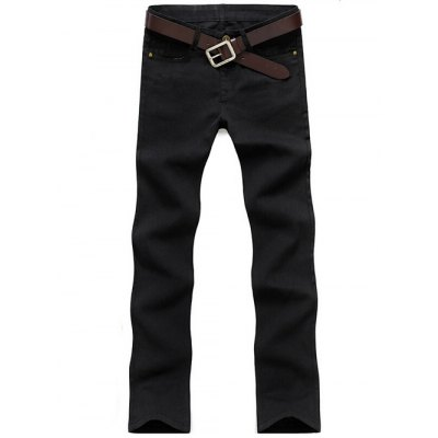Brief Style Zip Fly Straight Leg Jeans