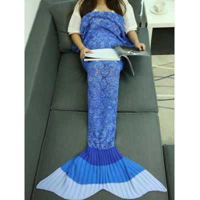 Hollow Out Knitting Warm Mermaid Blanket