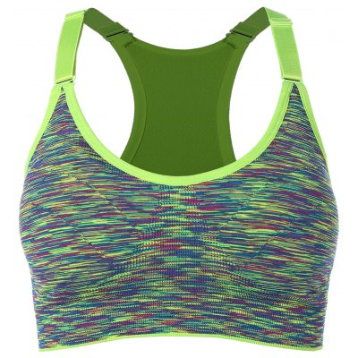 Cut Out Padded Strappy Racerback Sports Bra