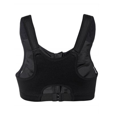 Cut Out Zipper Sports Bra