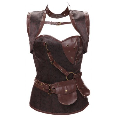 Gothic Faux Leather Corset