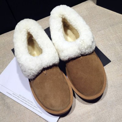 Faux Shearling Suede Snow Boots