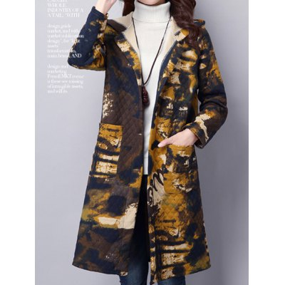 Tie Dyed Hooded Coat