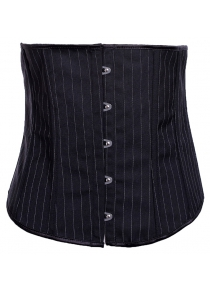 Strapless Striped Lace-Up Corset