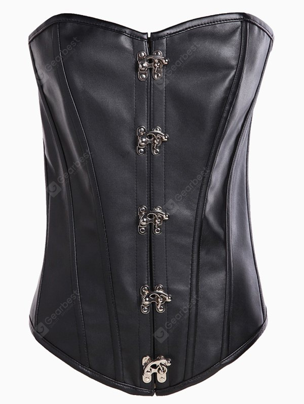 Strapless Lace-Up Cut Out Corset