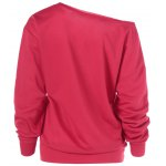 cheap Merry Christmas Pullover Skew Neck Sweatshirt