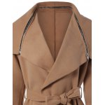 Zipped Belted Shawl Wrap Coat deal