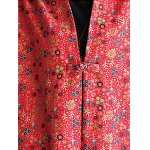 Floral Frog Button Long Maxi Coat deal